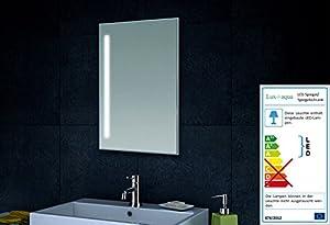 René Bugil WandSpiegel Badezimmerspiegel mit LEDBeleuchtung 40x60 cm  BaumarktKundenbewertung: