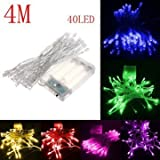 Sellify Purple : Generic 4M 40 LED Battery Powered Christmas Wedding Party String Fairy Light-purple