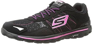 Skechers Women's GOwalk 2 Flash,Black/Hot Pink/Lime,US 5.5 M
