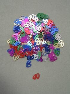 40 Confetti, Multi-Color, 10 mm Size, 1/2 oz Bag (Qty 1 Bag)