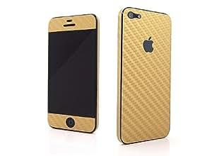 Nappa Full Body Carbon Fiber Vinyl Decal Skins for Iphone 5 - Golden