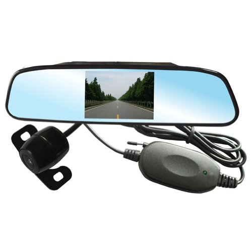 Aubig Pz603-W 3.5 Inch Lcd With Rearview Mirror Display Wireless Parking Sensor System Reverse Rear Viewing System With Camera