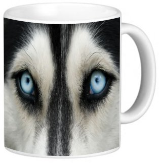 Rikki Knighttm Wolf Close Up Design 11 Oz Photo Quality Ceramic Coffee Mug Cup - Fda Approved - Dishwasher And Microwave Safe
