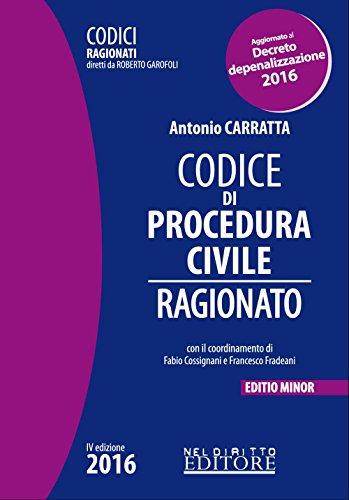 Codice di procedura civile ragionato Ediz minore PDF