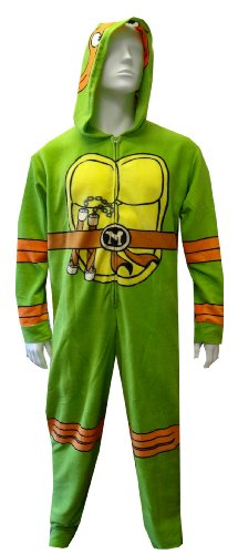 Teenage Mutant Ninja Turtle Hooded Fleece Onesie Pajama For Men (Large/X-Large) back-777270