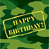 Camouflage Happy Birthday Lunch Napkins 16 Per Pack