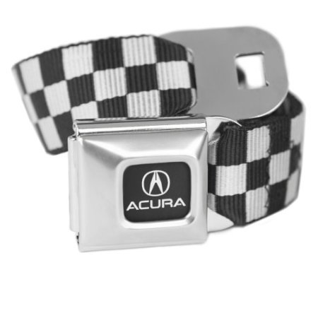 acura-checkered-blanc-avec-ceinture-boucle-de-ceinture-de-securite-sous-licence-officielle