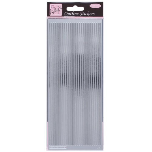anitas-outline-peel-off-craft-stickers-straight-line-borders-silver