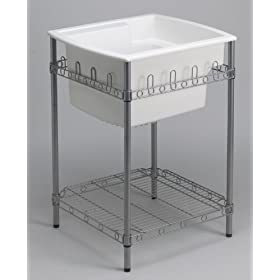 """Sterling 996-0 Latitude Utility Sink with Stand, 25"""" x 22"""" x 36"""" (Basin Depth is 12""""), White"""