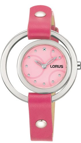 Lorus Ladies Watch Unique Fashion Design Pink Leather Band SALE