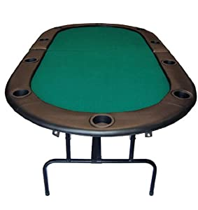 "84"" Foldable Texas Hold'em Poker Table Table Top Color: Green"