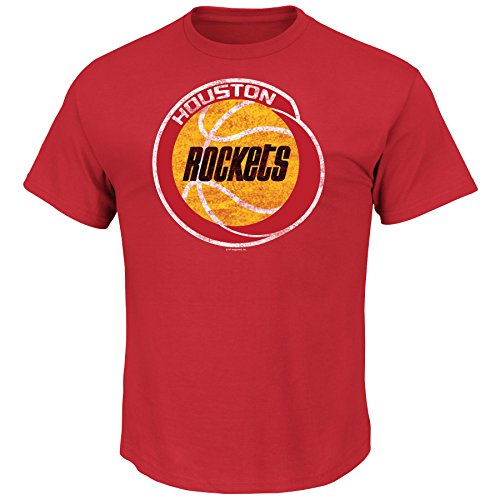 NBA Mens Rockets Weathered Post Up Kaa Tee, Color Red Size Medium,Red (Vintage Nba Shirts compare prices)