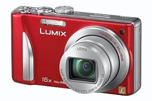 Panasonic DMC-TZ25EG-R Digitalkamera (12 Megapixel, 16-fach opt. Zoom, 7,6 cm (3 Zoll) Display, bildstabilisiert) rot