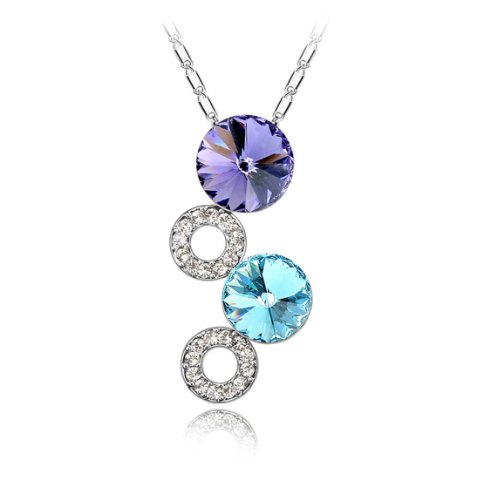 Boxingcat Fine Jewelry Swarovski Style Clear Austrian Crystal Pendant Necklaces Bgca4566 front-677125