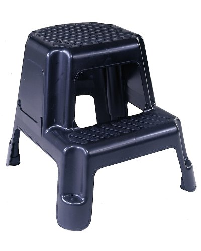 Picture Of Cosco 11 911blk Two Step Molded Step Stool Black