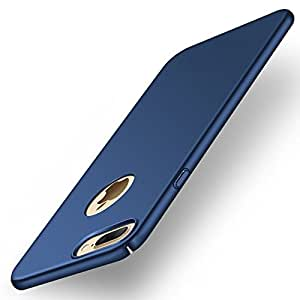 """WOW Imagine(TM) All Sides Protection """"360 Degree"""" Sleek Rubberised Matte Hard Case Back Cover For Apple iPhone 7 Plus - Blue"""