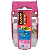 Scotch Heavy Duty Shipping Package Tape, 1.88 x 800 Inches, Pink Dispenser (142-PC)