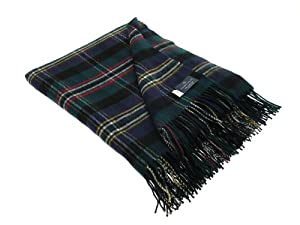 Green Scott Tartan Lambswool Throw