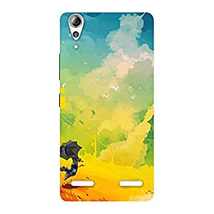Flying With Umbrella Back Case Cover for Lenovo A6000 Plus