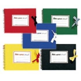 【クリックでお店のこの商品のページへ】Amazon | マルマン【maruman】アートスパイラルシリーズ スケッチブック F3サイズ 5冊セット 5色ミックス(ツインワイヤとじ) MMS313 | スケッチブック