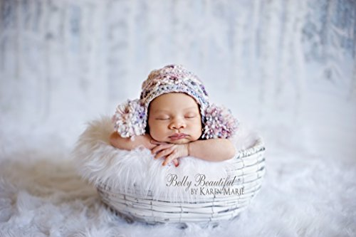 Double Puff Earflap Hat Knit Pattern - All Baby, Toddler, Child, Teen And Adult Sizes Included