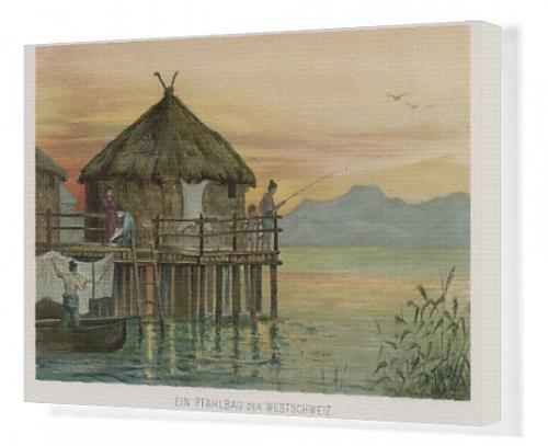 Canvas Print Of Swiss Lake Dwelling