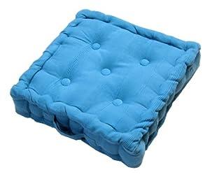 homescapes coussin de sol chaise ou rehausseur de couleur bleu 100 coton de 40 x 40 x10 cm de. Black Bedroom Furniture Sets. Home Design Ideas