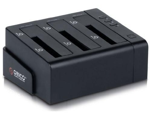 ORICO 6638USJ High Speed 3 bay USB 2.0 2.5 - inch / 3.5 - inch External HDD Docking Station for HDD Docks - Black