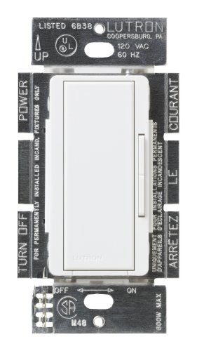 Lutron Msc-Ad-Sw Maestro 600-Watt Accessory Dimmer Snow