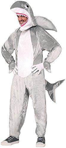 Forum Novelties Men's Shark Mascot Costume, Gray, Standard (Mascot Costume Shark compare prices)