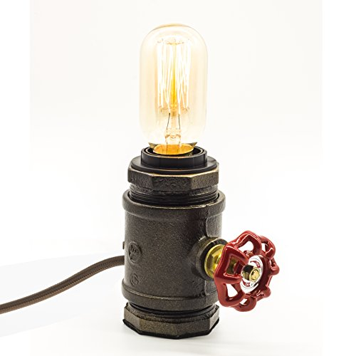 "Y-Nut Loft Style Lamp, ""Watchman"", Steam Punk Industrial, Night Lamp, Table Desk Light, LL-002 0"