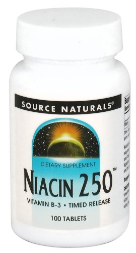 Source Naturals - Niacin 250 Vitamin B-3 Timed Release 250 Mg. - 100 Tablets