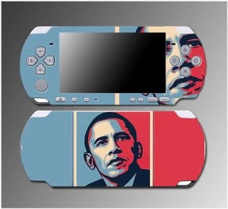 President Barack Obama Hope Change Che Video Game Vinyl Decal Sticker Cover Skin Protector 4 for Sony PSP Slim 3000 3001 3002 3003 3004 Playstation Portable