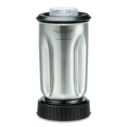 Waring Commercial Cac37 Complete Stainless Steel Container With Blade And Lid, 32-Ounce front-52808