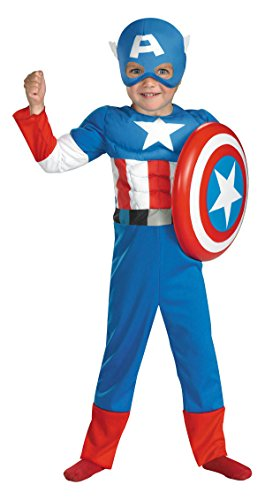 Avengers - Boy's Costume: Captain America Muscle- Small