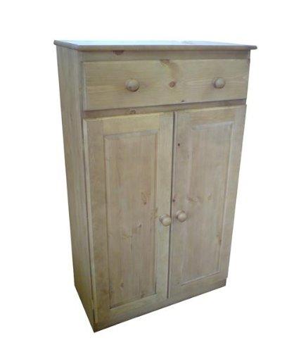 Wye Pine Bespoke 1 Drawer 2 Door Sideboard - Finish: Wax - Stain: Waterbased