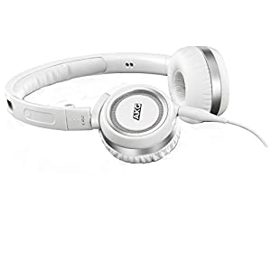 AKG K452 High-Performance On-Ear Headphones with In-line Microphone - White
