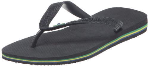 Havaianas Men's Hav Brasil Black Slipper 4000032.0090.412 8 UK