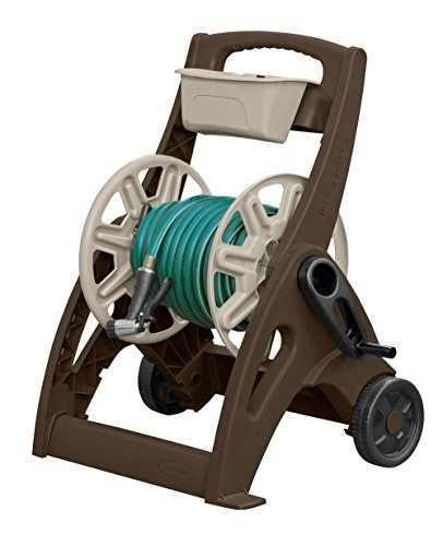 Review Of Suncast 225-Foot Capacity Hosemobile Garden Hose Reel Cart, Bronze/Taupe SFB200B