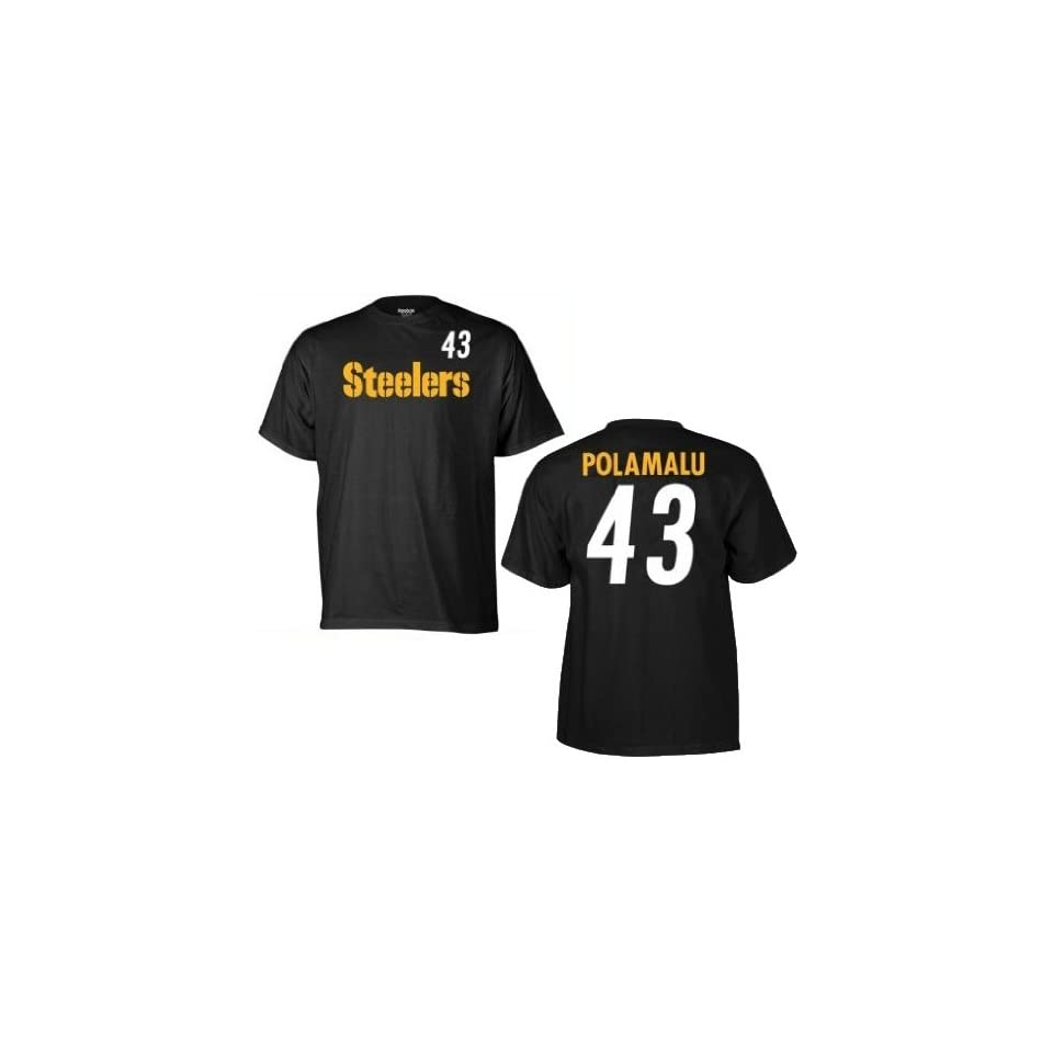 136cb2854dd Troy Polamalu Pittsburgh Steelers Infant   Newborn   Baby Game Gear Jersey  Name and Number Tee