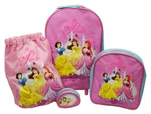 Trade Mark Collections Disney Princess Travel Set includes Wheeled Bag/ Backpack/ Trainer Bag/ Purse by Trade Mark Collections