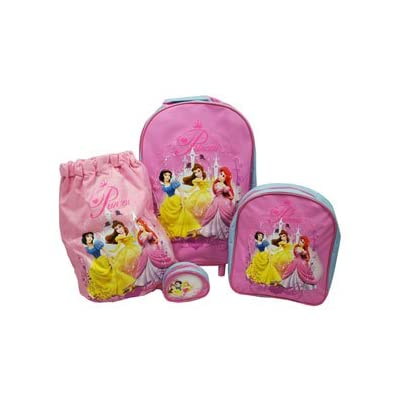 Trade Mark Collections Disney Princess Travel Set includes Wheeled Bag/ Backpack/ Trainer Bag/ Purse