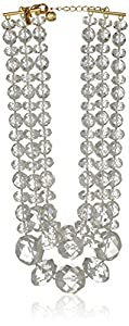 kate spade new york Give It A Swirl Ab and Clear Triple Statement Strand Necklace