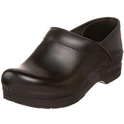 Dansko Women\'s Wide Professional Clog,Black Cabrio,40 W EU / 9.5-10 D(W) US