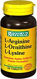 Good 'N Natural L-arginine, L-ornithine, L-lysine