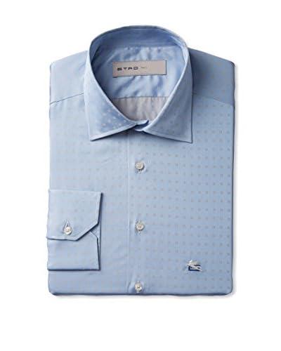 Etro Men's Dot Print Long Sleeve Dress Shirt