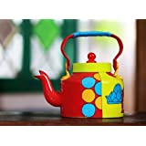 Delhi Theme Alluminium Kettle With Set Of Two Glasses