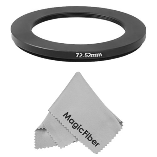 Goja 72-52Mm Step-Down Adapter Ring (72Mm Lens To 52Mm Accessory) + Premium Magicfiber Microfiber Cleaning Cloth