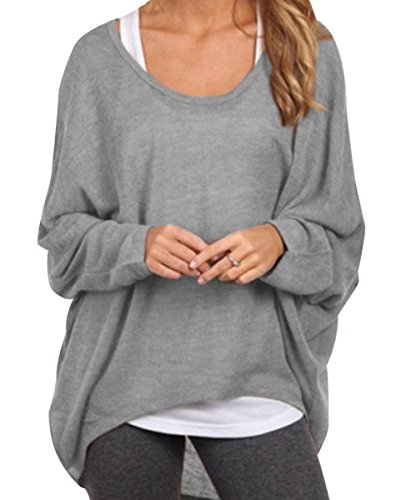 Womens Crewneck Tops Long Sleeve Pullover Shirt Casual Blouse