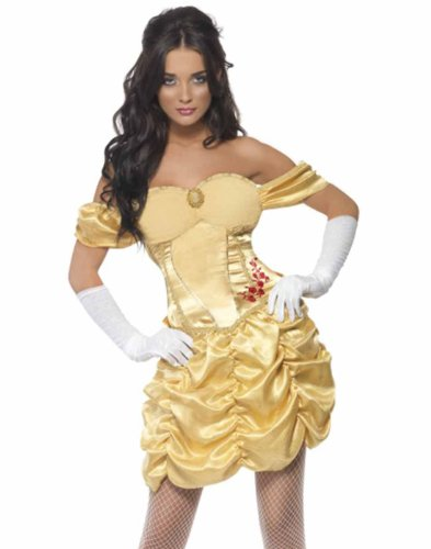 Smiffy's Disney Golden Princess Belle Women's Fairytale Costume